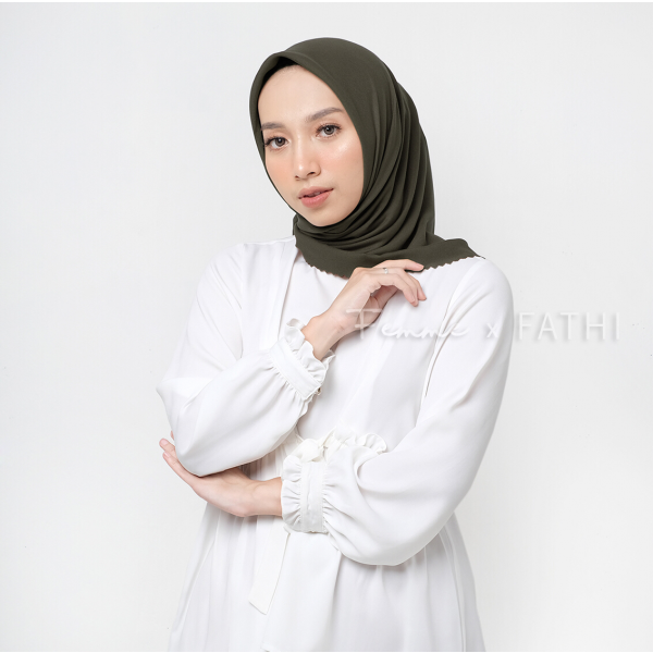 Fathi Shawl Square Dusty Army