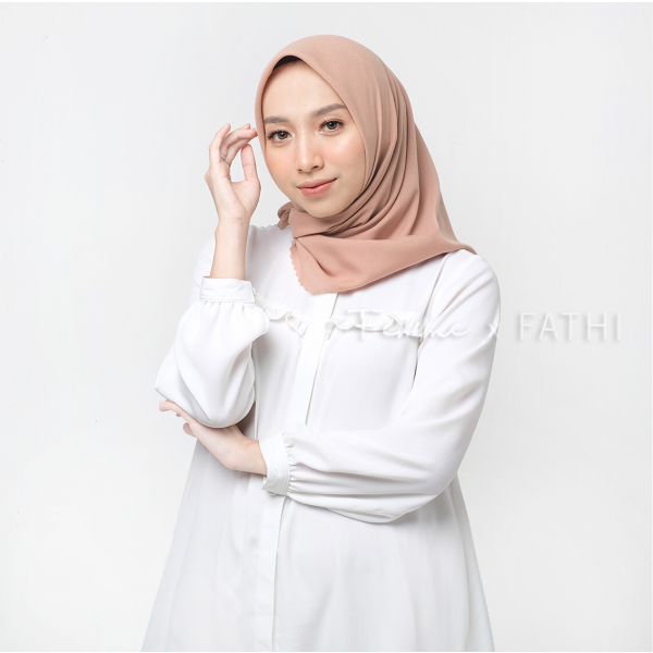 Fathi Shawl Square Dusty Peach