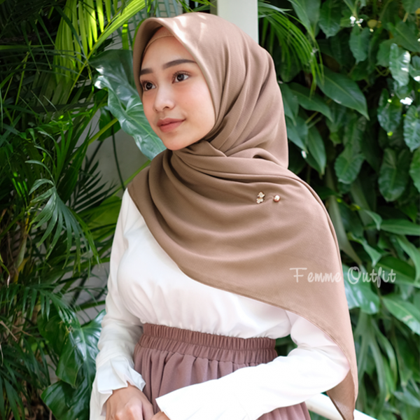 Ghania Shawl Square Sweet Mocca