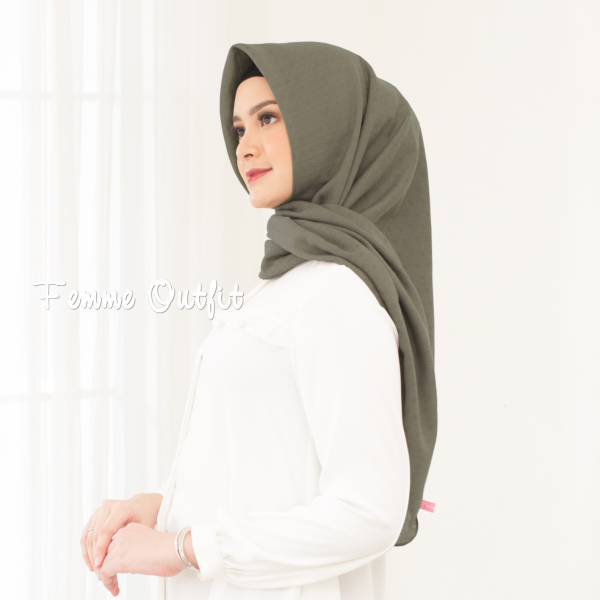 Alexa Shawl Square Dark Stone