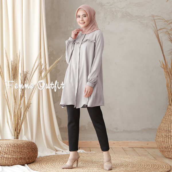 Laiqa Blouse Grey