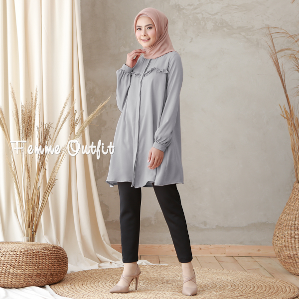 Laiqa Blouse Midnight Grey