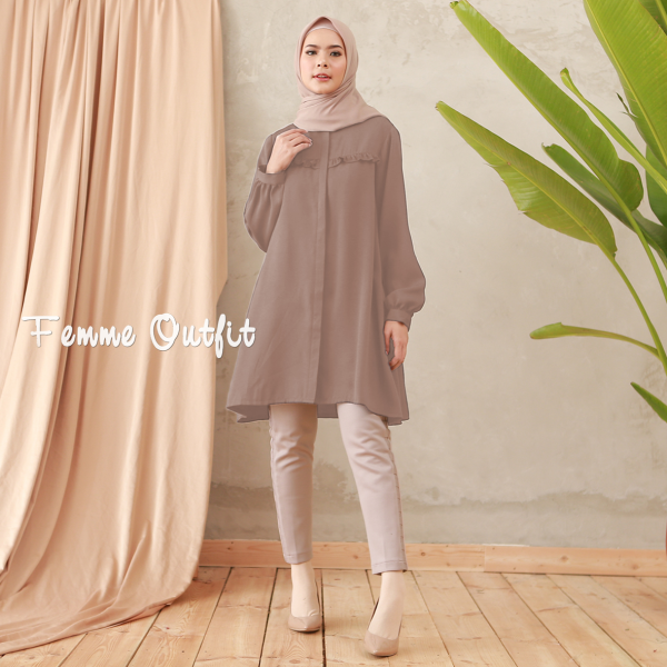 Laiqa Blouse Deep hazelnut