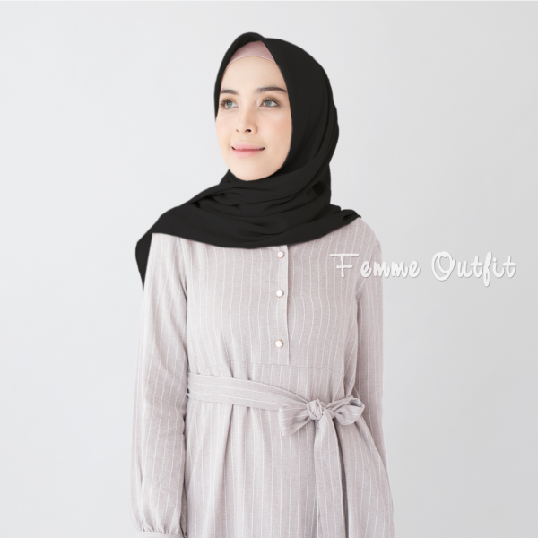 Tiffany Shawl Square Black