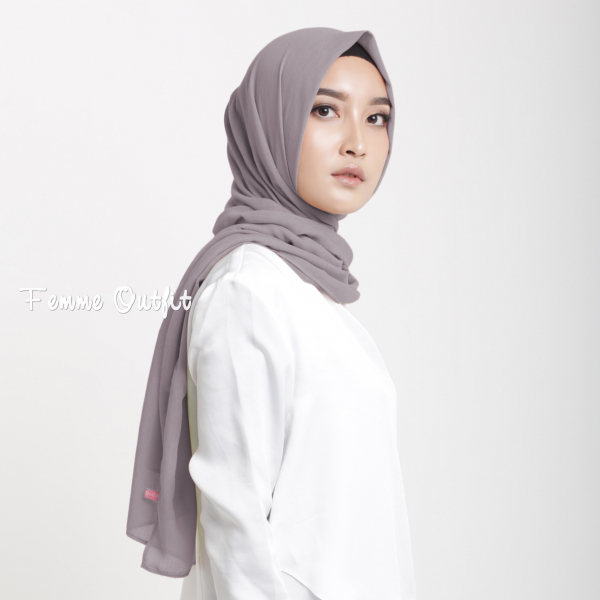 Fristy Shawl Pashmina Light Stone