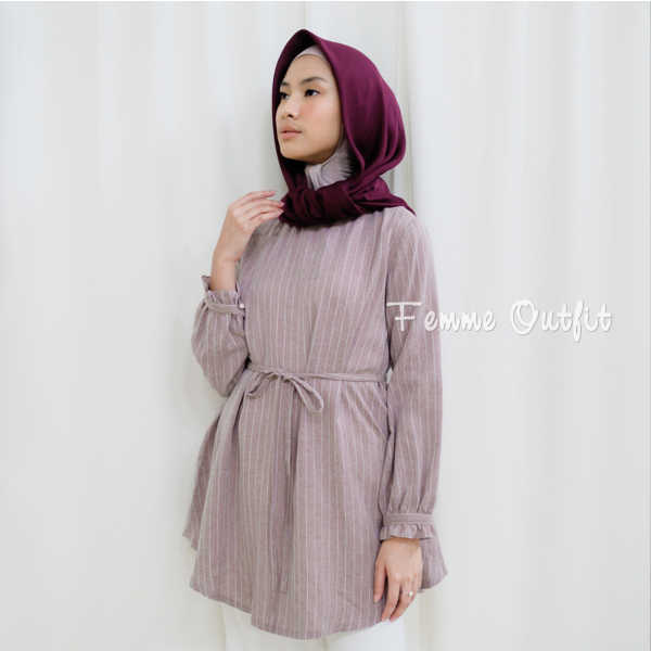 Aline Blouse Red Berry