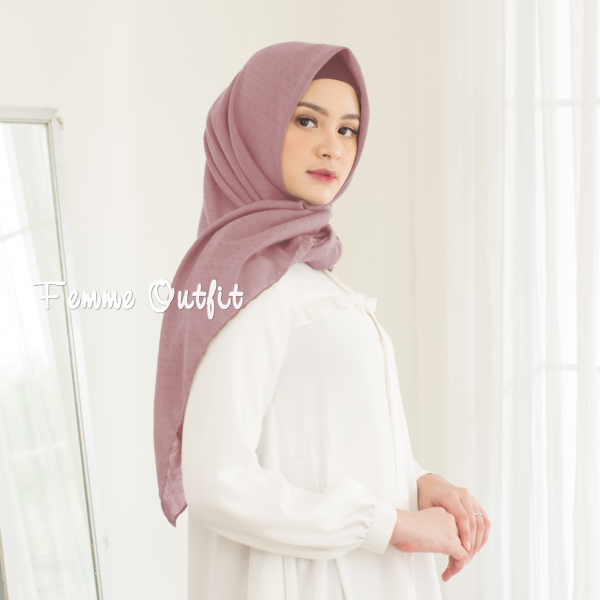 Alexa Shawl Square Dusty Pink