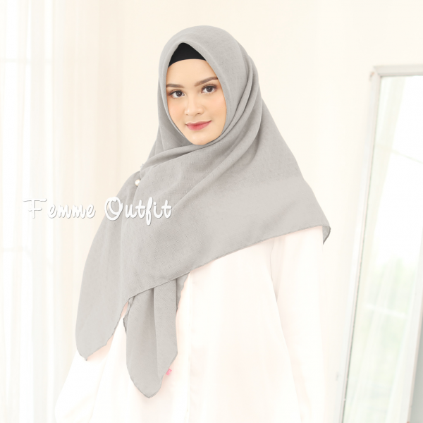 Alexa Shawl Square Light Grey