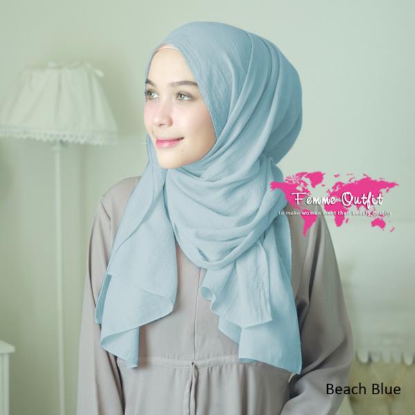 Azzura Shawl Pashmina Beach Blue