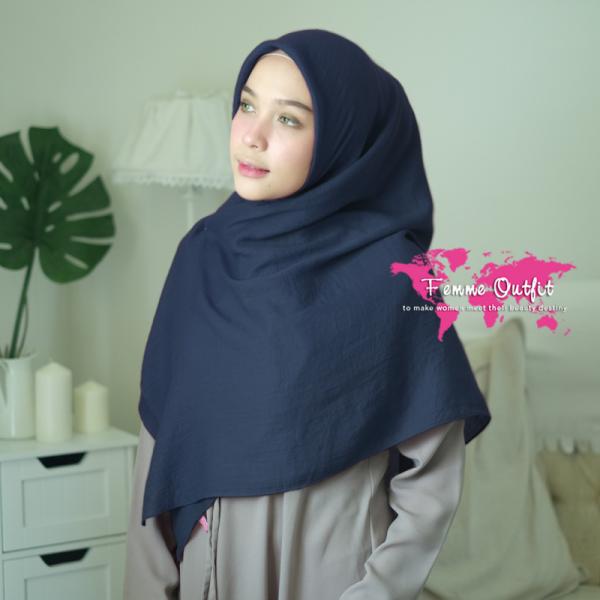 Azzura shawl Square Dark Navy Blue