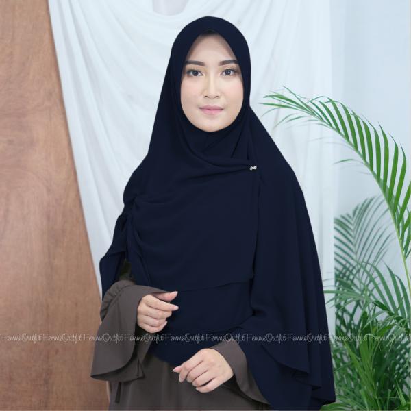 Fatihah Khimar Dark Navy Blue