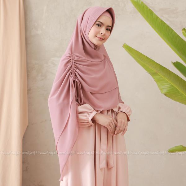 Fatihah Khimar Dusty Pink