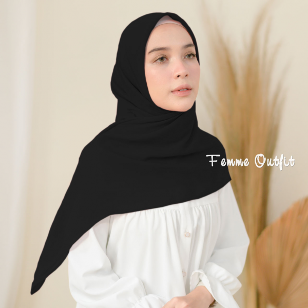 Fristy Shawl Square Black