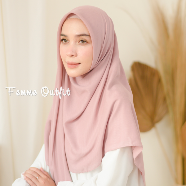 Ghania Shawl Square Pale Pink