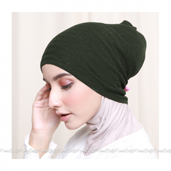 Khanza Knit Headband Army