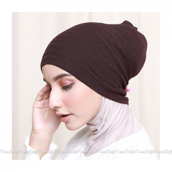 Khanza Knit Headband Coffee