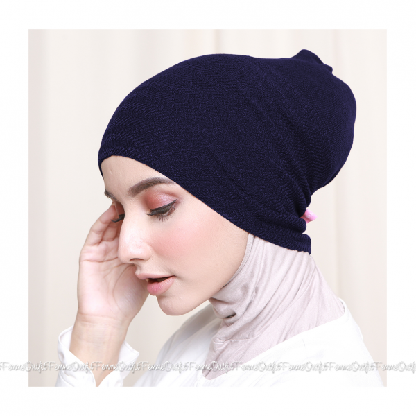 Khanza Knit Headband Dark Purple