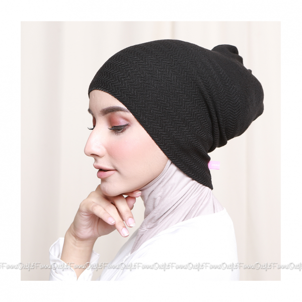 Khanza Knit Headband Dark Smoke Grey