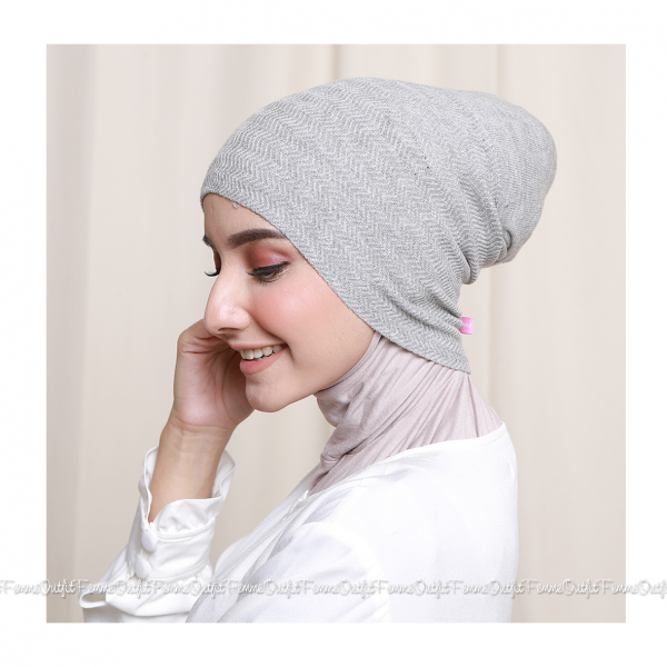 Khanza Knit Headband Light Grey