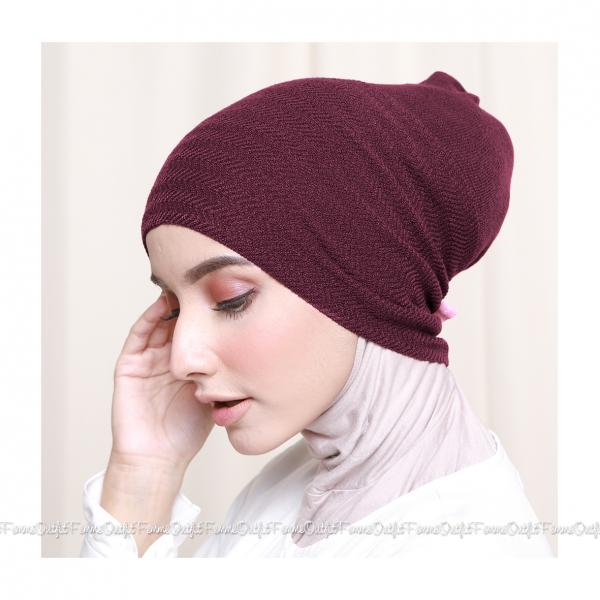 Khanza Knit Headband Maroon