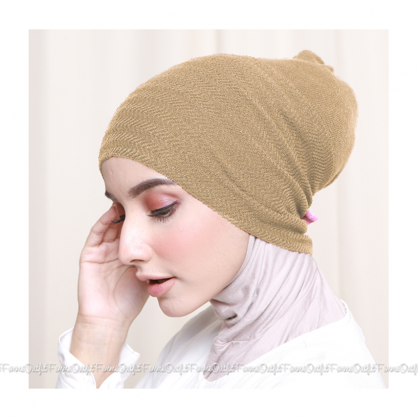 Khanza Knit Headband Nude