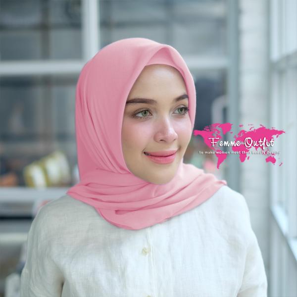 Kyara Shawl Square Light Dusty Pink