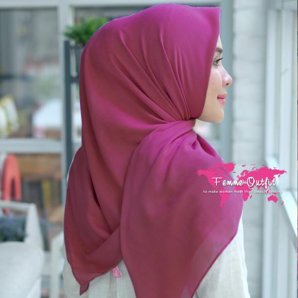 Kyara Shawl Square Pink Magenta