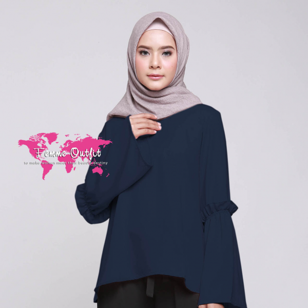 Kyara Top Navy Blue