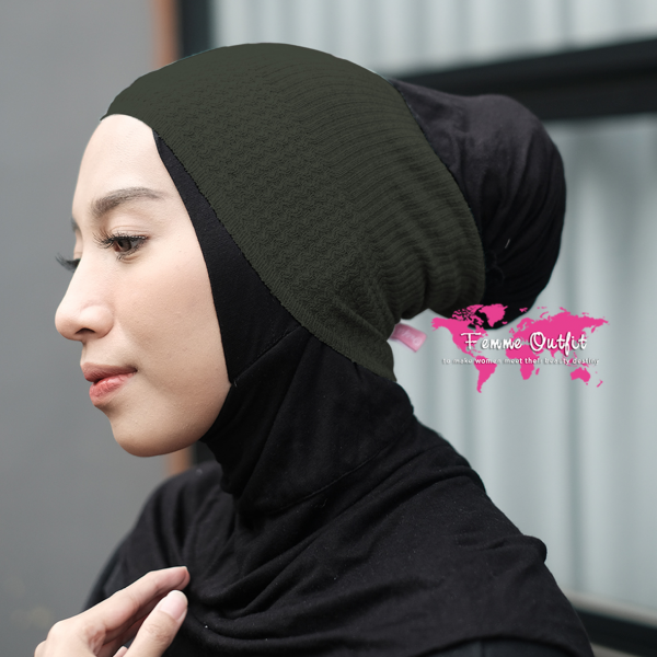 Lizi Knit Head Band Deep Army