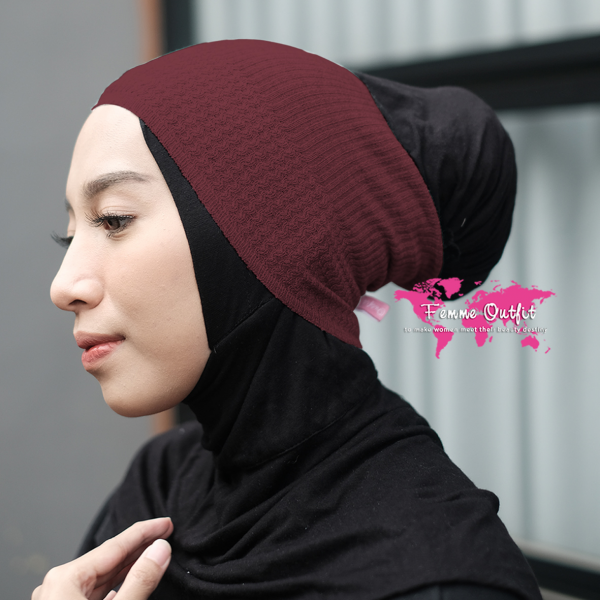 Lizi Knit Head Band Maroon