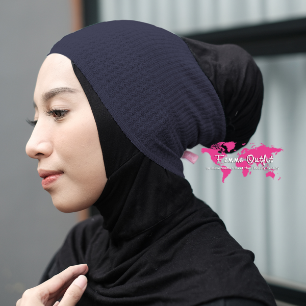 Lizi Knit Head Band Navy Blue