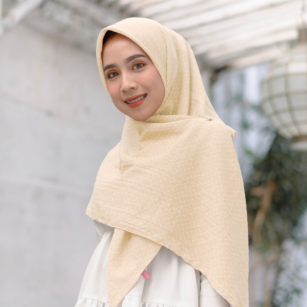 Aletty Shawl Square Cream