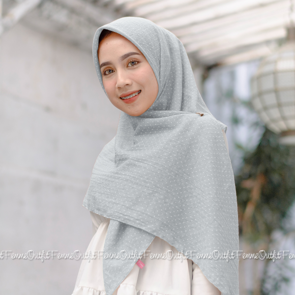 Aletty Shawl Square Light Grey