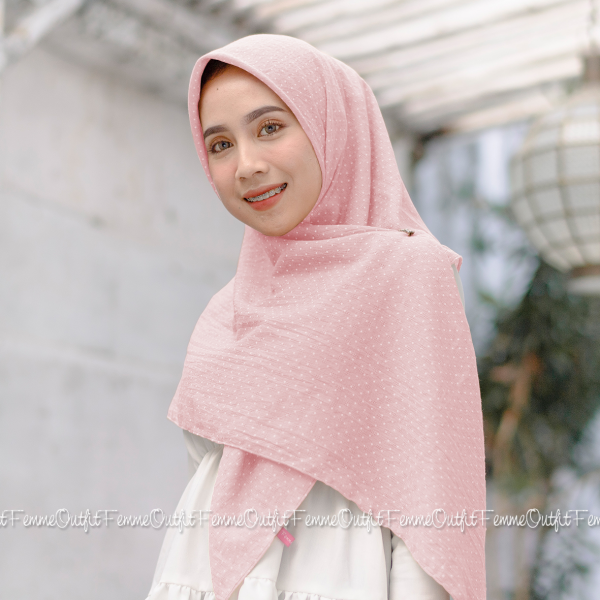 Aletty Shawl Square Sweet Pink