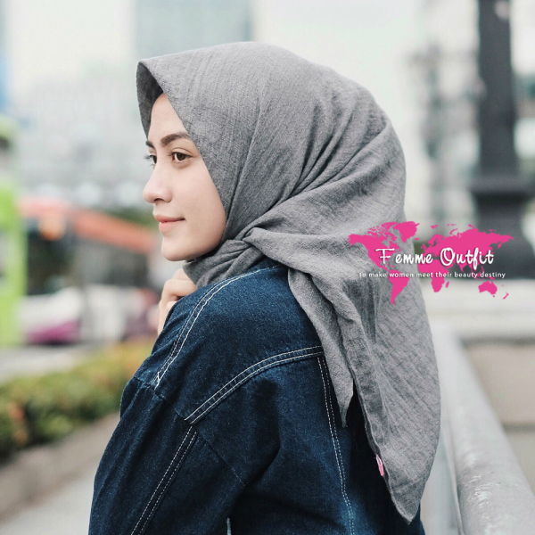 Tyrex Shawl Square Dark Grey
