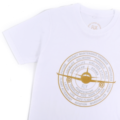 FLY Tee Aviation Circle White