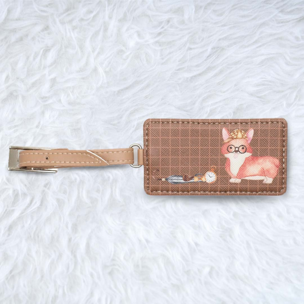 Luggage Tag Square Corgi