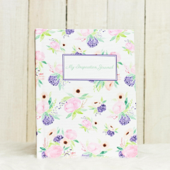 HardCover Journal Purple Blossom