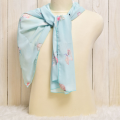 Scarf Cat Collection Chiffon Blue