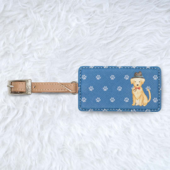 Luggage Tag Square Goldie