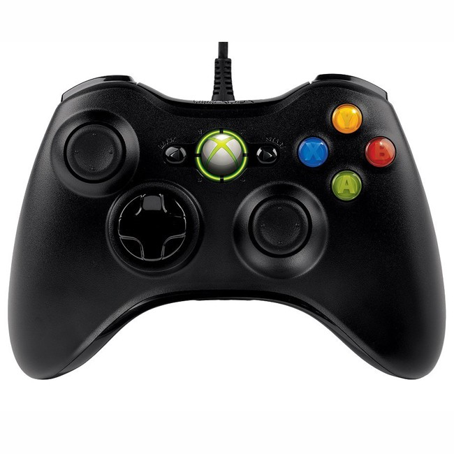Microsoft XBOX360 Wired Controller - PC GamePad (Black)