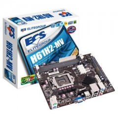 ECS MicroATX Motherboard H61H2-MV LGA1155 (H61, DDR3, SATA2, USB2)