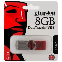 Kingston DataTraveler 101 G2 8GB - USB 2.0 Flash Drive (Red)
