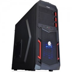 Dazumba D-Vito 782 Mid Tower PC Gaming Case - No PSU (Black)