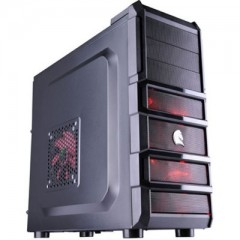 Dazumba D-Vito 808 Mid Tower PC Gaming Case - No PSU (Black)