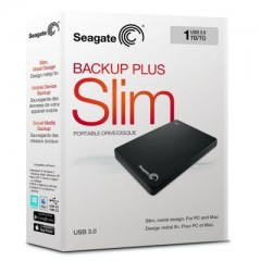 SEAGATE BackUp Plus Slim 1TB - USB 3.0 Portable External Hard Drive (Black)