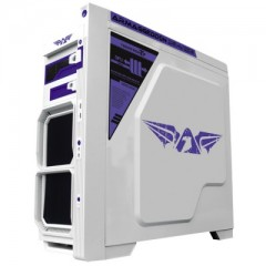 Armaggeddon Teratron T7 Mid Tower PC Gaming Case - No PSU (White)