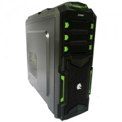 Dazumba D-Vito 950 Full Tower PC Gaming Case - No PSU (Black)