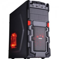 Dazumba DE-670 Mid Tower PC Case - With 380W PSU (Black)