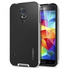 Spigen Neo Hybrid Satin Silver - Samsung Galaxy S5 Case